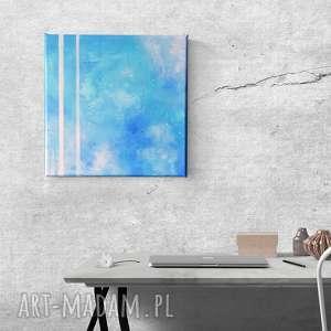 niebo - obraz olejny w formacie 30/30 cm, abstrakcja, olejny, niebo, pasy