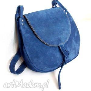 dziwonia zamszowa torba a4, duża, pojemna, zamszowa, niebieska, wytrzymała, skóra