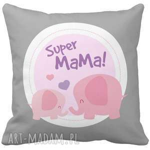 poduszka dekoracyjna na prezent super mama kochana dzień matki mamy 6781