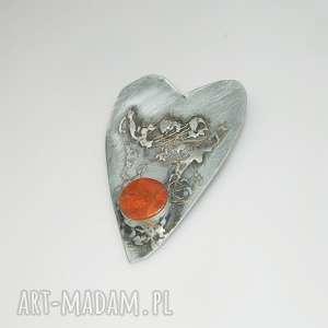czerwone serce-N5, wisior, wisior-serce, unikatowa-biżuteria, unikatowe-serce