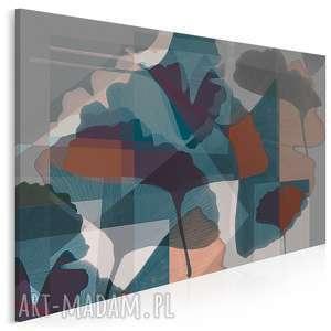 obraz na płótnie - liście ginkgo 120x80 cm 36601, liście, ginko, abstrakcja