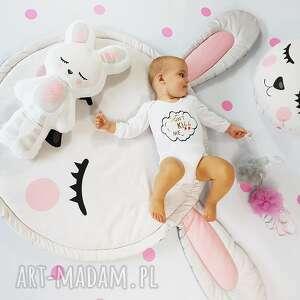 ręcznie zrobione pokoik dziecka mata królik 150 cm z poduszką