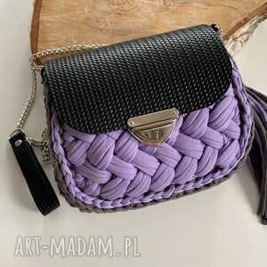 handmade na ramię szydełkowa torebka fancy puff