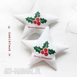 prezent pod choinkę Christmas -komplet dwóch gwiazdeczek do zawieszenia , święta