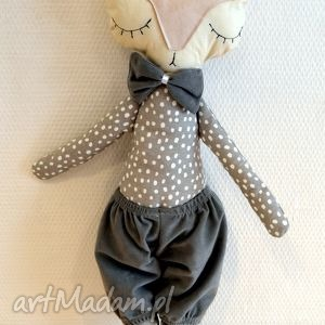 mr lisek - lalka, maskotka, zabawka, przytulak, lisek, lala