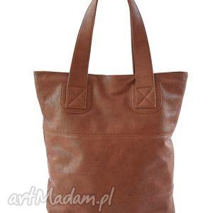 torba na ramię v 10-01 dark brown, duża, pojemna, format a4, torba, torebka