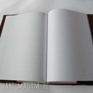okładka na notatnik a4 - skóra naturalna jagnięca, okładka, format a4
