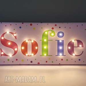 pokoik dziecka napis led neon twoje imię prezent dla dziewczynki personalizowany