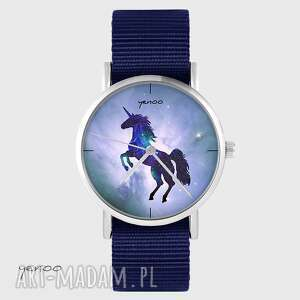 zegarek yenoo - jednorożec granatowy, nato, zegarek, jednorożec, unicorn