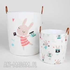 pokoik dziecka komplet dwóch pojemników w króliki, dziecko, pojemnik, prezent