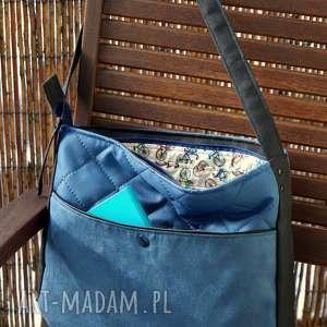 happyart torba hobo z kieszenią, torba, pikowana, prezent, rowery, hobo, na-ramię