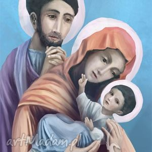 prezent pod choinkę Obraz - Święta Rodzina płótno, obraz, rodzina, święta,