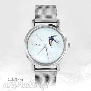 Prezent Zegarek, bransoletka - Jaskółka, zegarek, ptaszek, jaskółka, prezent, grafika