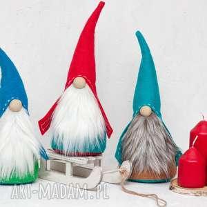 skrzat świąteczny krasnal krasnolud krasnoludek gnom turkus, skrzat