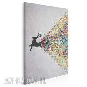 obraz na płótnie - jeleń kolory w pionie 50x70 cm 49408