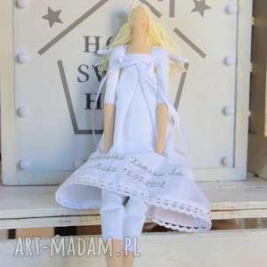 hand made lalki anioł pamiątka pierwszej komunii świętej