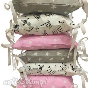 Poduchowy ochraniacz LaMaDo 6.częściowy, poduchowy, poduszki, ochraniacz, łóżeczko