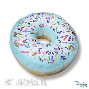 poduszka pączek donut miętowy xxl duży, poduszka, poduszki, donut