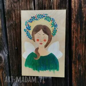 dekoracje anioł zielony, anioł, dekoracje, anioły, obraz, ozdoby, oryginalne