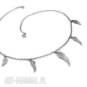 Angel /choker/ - naszyjnik, srebro, choker, krótki, skrzydełka