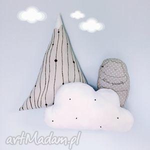 góra chmura i miś zestaw poduszek - zestaw, poduszek, poduszki, góra, chmurka