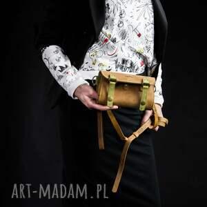 ręcznie zrobione portfele wykonany portfel z paskiem na ukos, wygodna torebka ramię
