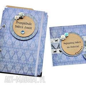 zestaw prezentowy na dzień babci - przepiśnik i kartka, przepiśnik, dla babci