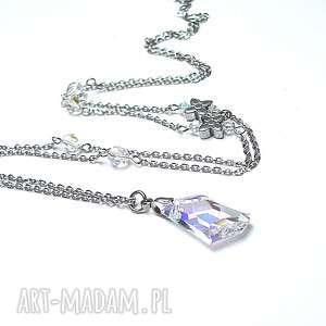 naszyjniki alloys collection - /crystal flower /naszyjnik, stal, szlachetna