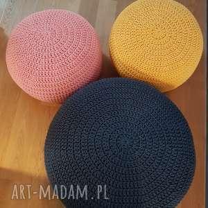 handmade pufy puf na szydełku 70cm średnicy i 35 cm wysoki
