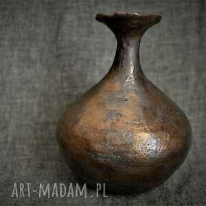 asymetryczny wazon na jeden kwiat, orientalne, rustykalne, organiczne, eko
