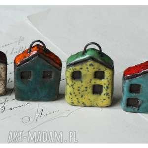breloki zestaw 6 domków z zaczepami ii, ceramika, domek, brelok