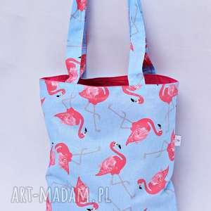 Torba na zakupy Shopperka flamingi róż, torba, zakupy, ramię, shopperka, duża