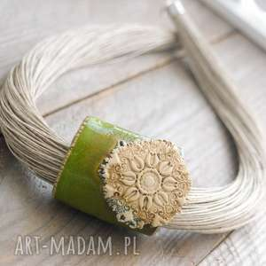 handmade naszyjniki naszyjnik lniany turna