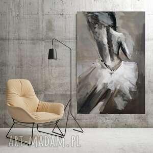 """Obraz """"biała suknia"""" 120x80 dom galeria alina louka duży"""