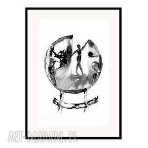 rota fortunae c1, plakat autorski 50/70 cm, plakat, autorski, grafika