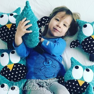 handmade zabawki sowa przytulanka gustaw, wzór remix