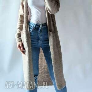 długi kardigan,płaszczyk z kieszeniami, sweter, kardigan, płaszczyk