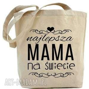 shopper torba najlepsza mama na świecie, zakupy, eko, dla niej, mamy