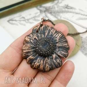 daisy - naszyjnik z prawdziwym kwiatem, wisior, kwiat