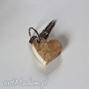 Brelok do kluczy, brelok, breloczek, klucz, klucze, drewniany, serce