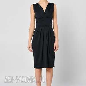 tulipan - czarna spódnica midi, spódnica, czarna, jersey