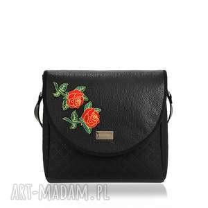 Torebka puro 1037 roses na ramię farbotka klapkomania, naszywka