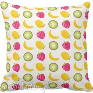 Poszewka na poduszkę dziecięca tropikalne owoce 3044, poszewka, owocowa,
