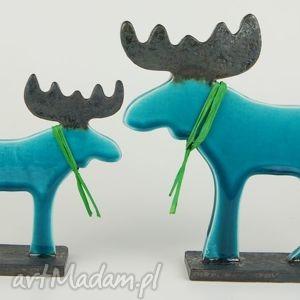 Upominek na święta: Łoś świąteczny ceramika cerama zwierzęta,