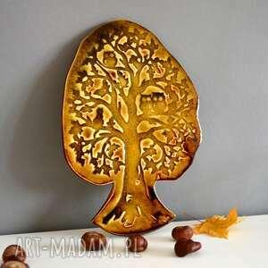 Ceramika drzewo, sowa, ceramika, ceramiczne, las, zwierzęta