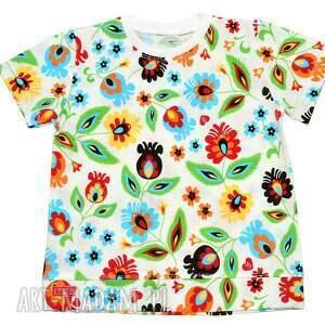 FOLKOWA ludowa bluzka bawełniana z krótkim rękawem, 68-122, t-shirt