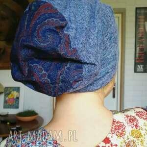 czapki czapka damska niebieska uniwersalna na podszewce, box a1, czapka, sport