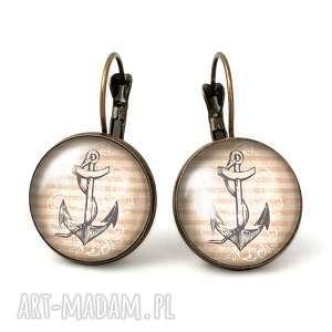 egginegg kotwica - duże kolczyki wiszące, marynarskie, koltwica