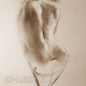 kobieta-akt, duży-obraz, kobieta-obraz, ryeunek-węglem, kobieta-rysunek, akt-rysunek
