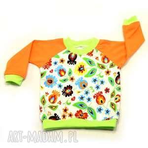 na ludowo folkowa bluzka bawełniana da dziewczynki, rozmiary 68-122